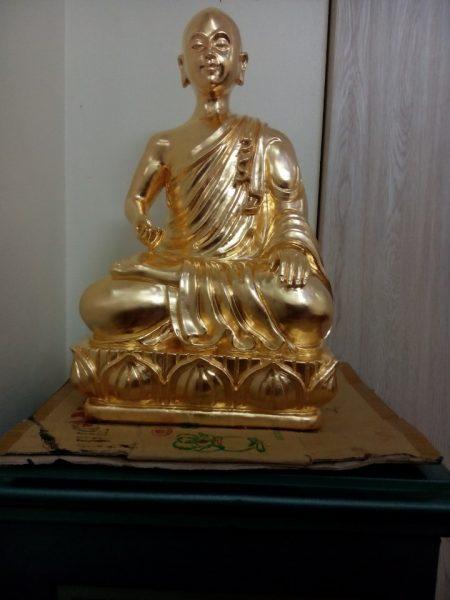 Phật hoàng trần nhân tông dát vàng 9999 làm xong trong 5 ngày