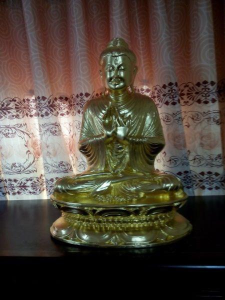 Phật hoàng trần nhân tông dát vàng 9999